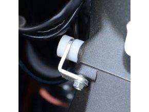 Chrániče dorazů řízení Ducati 899/1199/1299 Panigale, bílé
