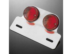 Sklíčko pro koncové světlo motocyklu Highway Hawk DUAL ROUND, červená (1ks)