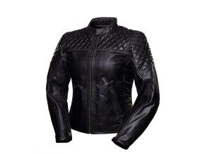 4SR SCRAMBLER PETROLEUM - dámská kožená bunda černá