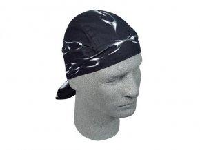 ZANHEADGEAR FLYDANNA HEADWRAPS Tank flame - šátek na hlavu černý