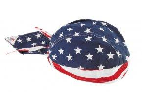 ZANHEADGEAR FLYDANNA HEADWRAPS Stars and stripes - šátek na hlavu