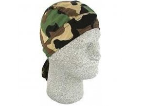 ZANHEADGEAR FLYDANNA HEADWRAPS Woodland camo - šátek na hlavu