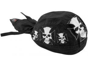 ZANHEADGEAR FLYDANNA HEADWRAPS Iron cross skull - šátek na hlavu