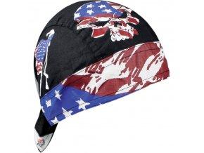 ZANHEADGEAR FLYDANNA HEADWRAPS Vintage patriot - šátek na hlavu