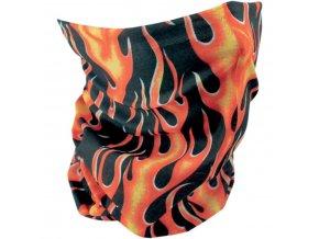 ZANHEADGEAR CLASICC FLAMES - multifunkční nákrčník