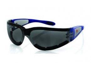 BOBSTER SHIELD II motocyklové brýle - kouřové sklo, modrý rám