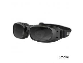 BOBSTER PISTON - motocyklové brýle, kouřové sklo