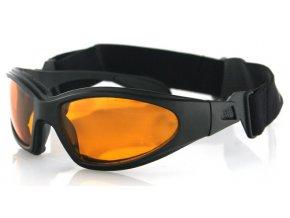 BOBSTER  GXR - motocyklové sluneční brýle, oranžové sklo