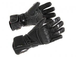 SPARK TACOMA pánské kožené rukavice na motorku, černé