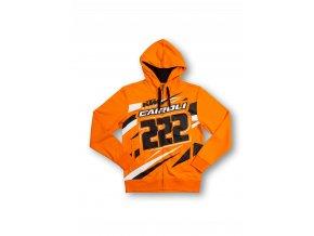 Tony Cairoli 222 - KTM pánská mikina oranžová
