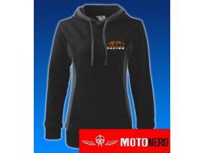 Dámská mikina s kapucí - KTM černá
