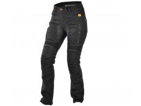 TRILOBITE 661 PARADO LADY TÜV CE LONG kevlarové jeansy prodloužené, černé