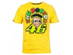 VR46 Valentino Rossi THE DOCTOR triko pánské, žluté