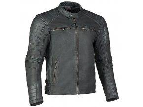 MBW HURRICANE kožená retro bunda černá