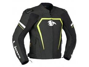 MBW JESTER sportovní kožená motobunda černá-žlutá-bílá