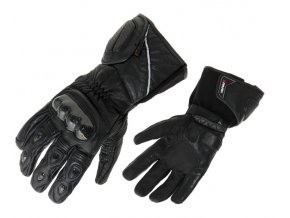 SPARK ARENA pánské kožené rukavice na motorku, černé
