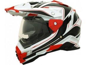 CYBER UX-33 - motocrossová přilba červeno bílá vel. S AKCE!