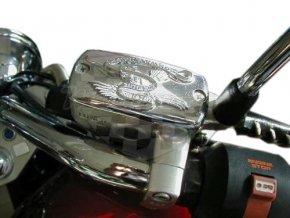 Highway Hawk Víčko nádobky brzdy / spojky LIVE TO RIDE pro motocykly HONDA a YAMAHA na vybrané modely