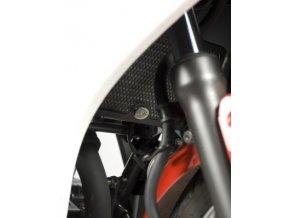 Ochranná mřížka chladiče RG Racing pro motocykly HONDA CBR250R ('11), černá