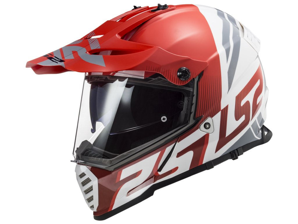 LS2 Pioneer MX436 EVO Evolve Red White 1