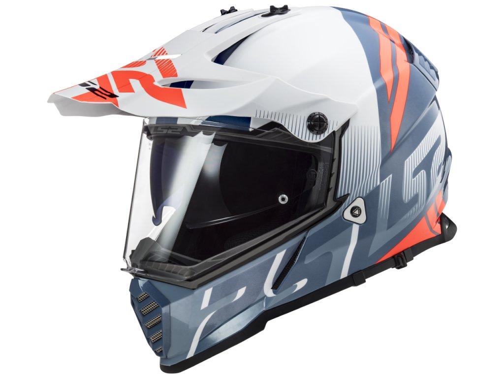 LS2 Pioneer MX436 EVO Evolve White Cobalt 1