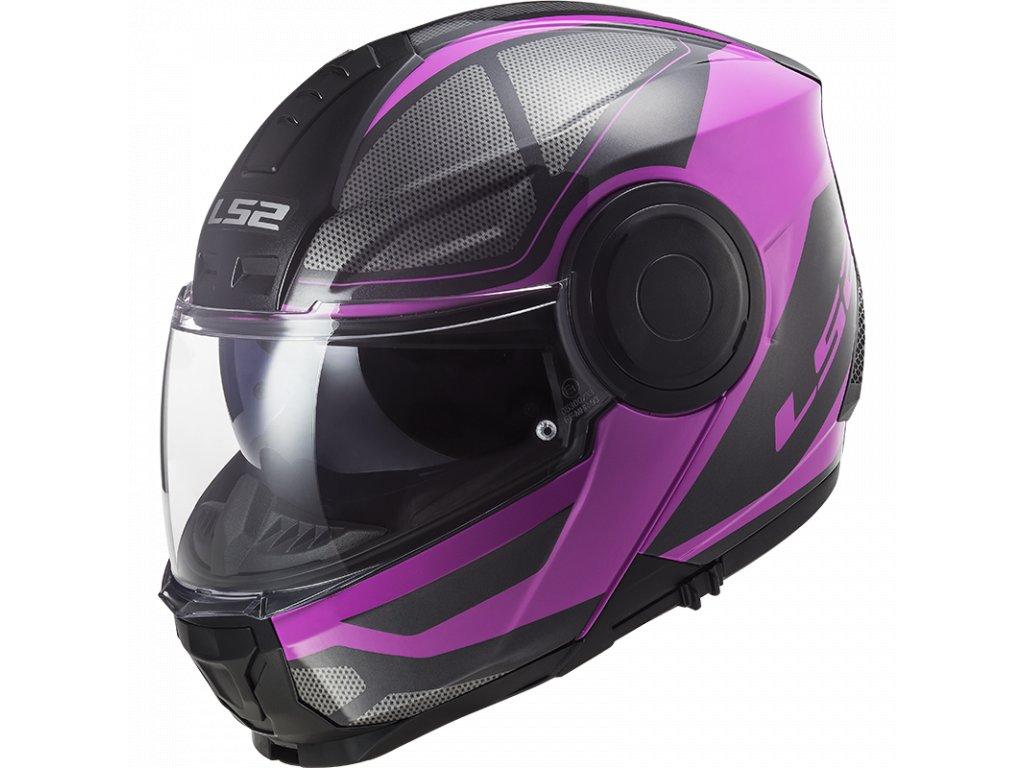 Výklopná přilba LS2 FF902 Scope Axis Black Pink