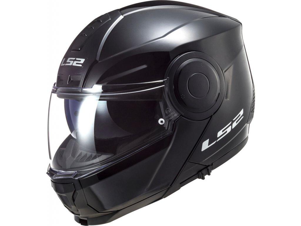 LS2 FF902 Scope Solid Black Lesklá 1