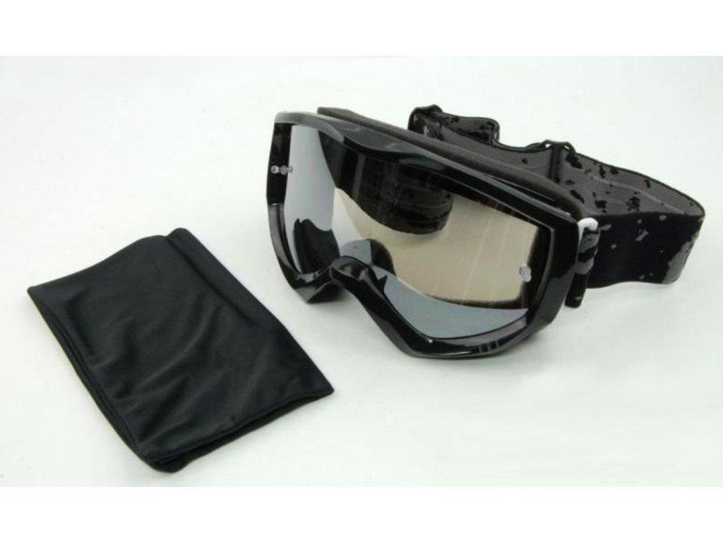Motokrosové brýle LEOSHI černé