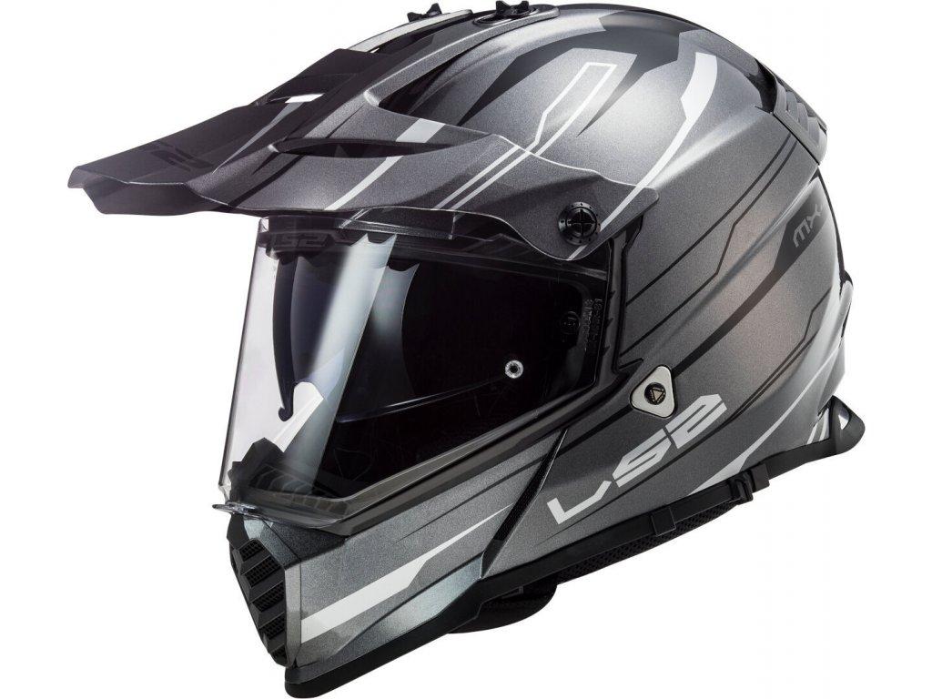 LS2 Pioneer MX436 EVO Knight Titanium White 1