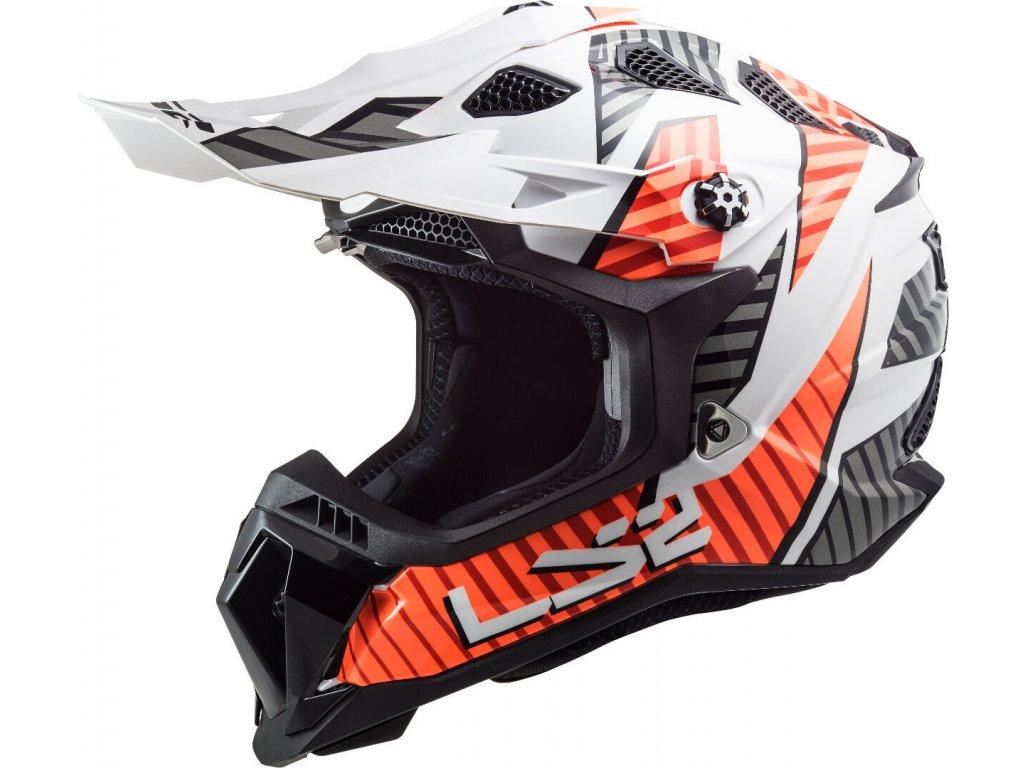 LS2 MX700 Subverter EVO Astro White Orange 1