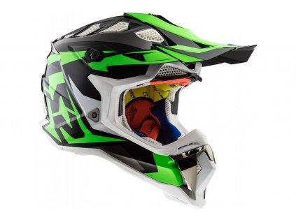 LS2 MX470 Nimble Black Green 1