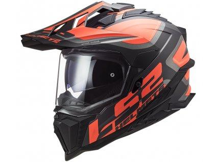LS2 MX701 Explorer Alter Matt Black Fluo Orange 1
