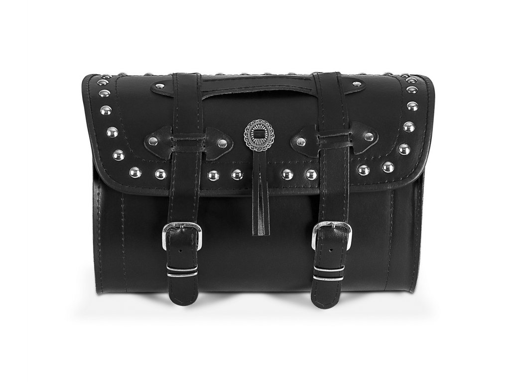 koženy kufr na motorku TXR TK4E bok