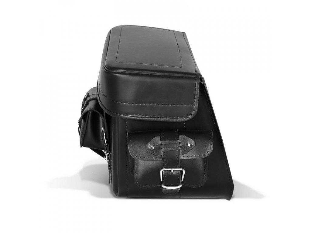 kožený moto kufr TXR TK1A bok