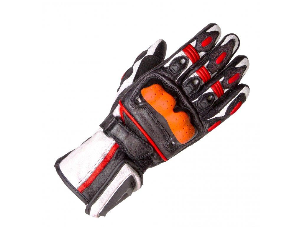 Moto rukavice Rokit Furious černo/bílo/červené