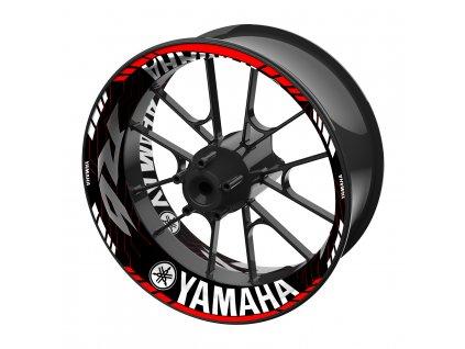 Polep PREMIUM pro YAMAHA R6 Black&Red Lines