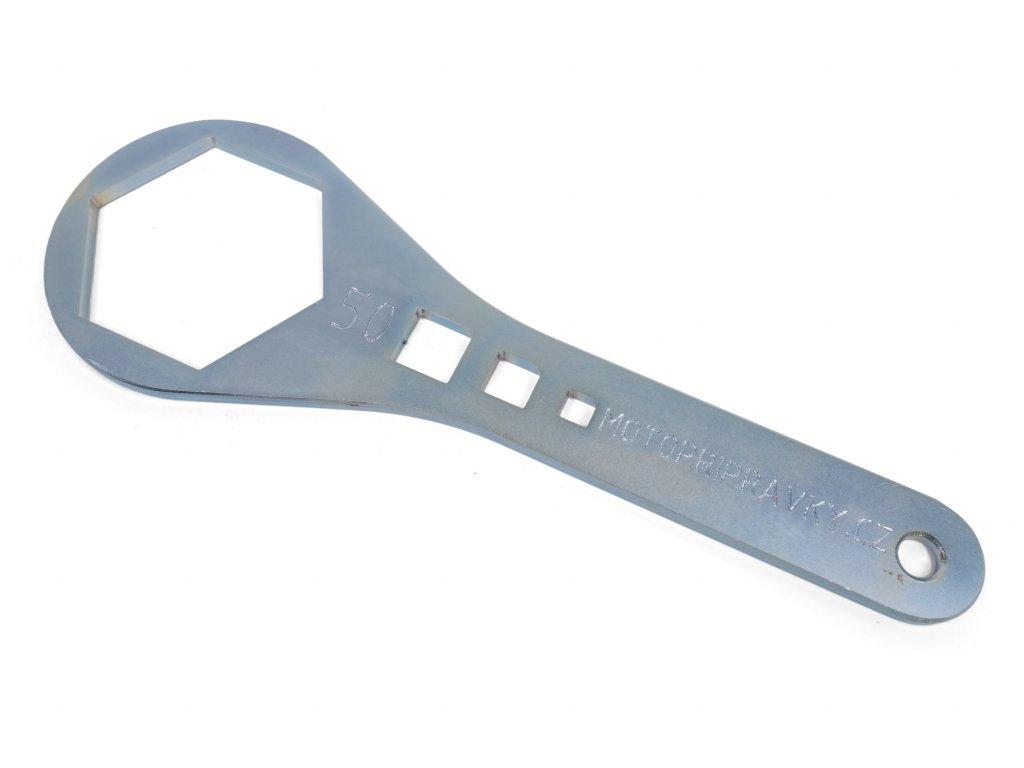 Ocelový klíč na vidlice - šestihrany