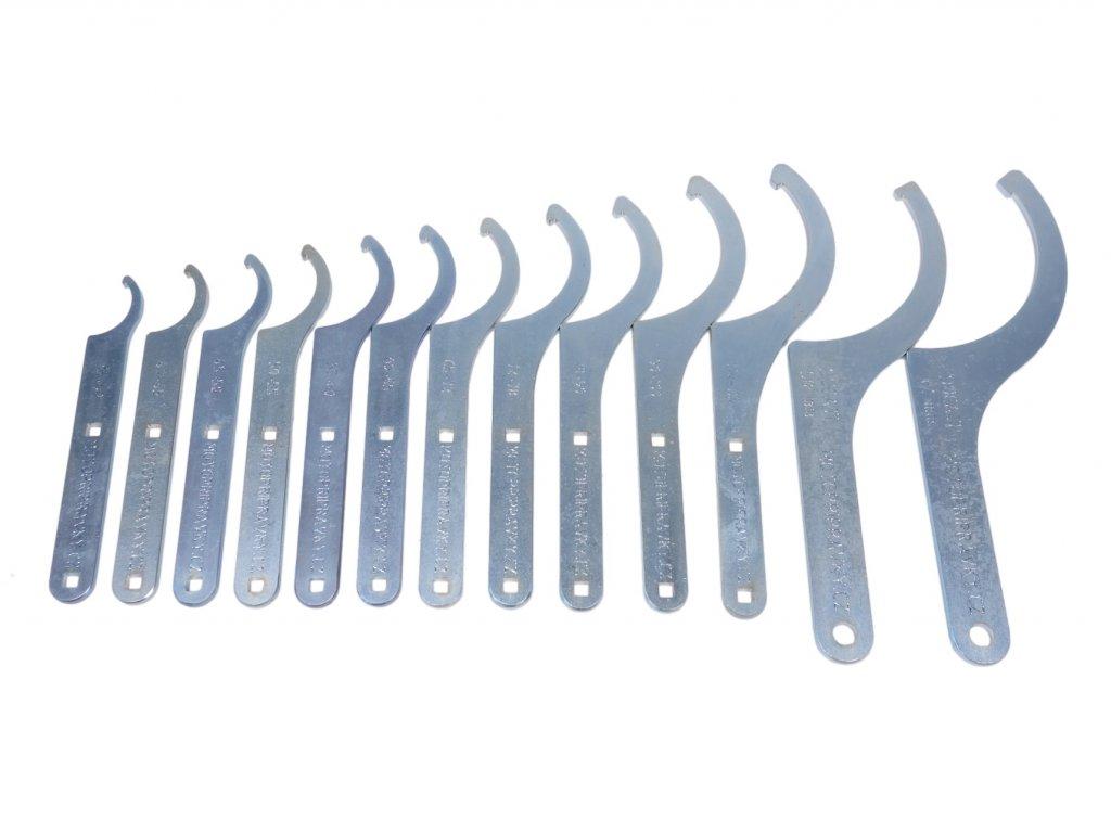 Sada 13 hákových klíčů - Hardox a S355