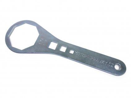 Ocelový klíč na vidlice - osmihrany
