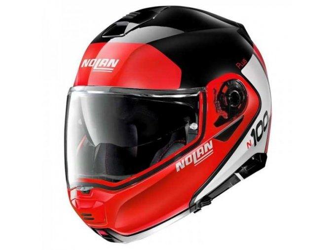 modular helmet nolan n100 5 plus red black