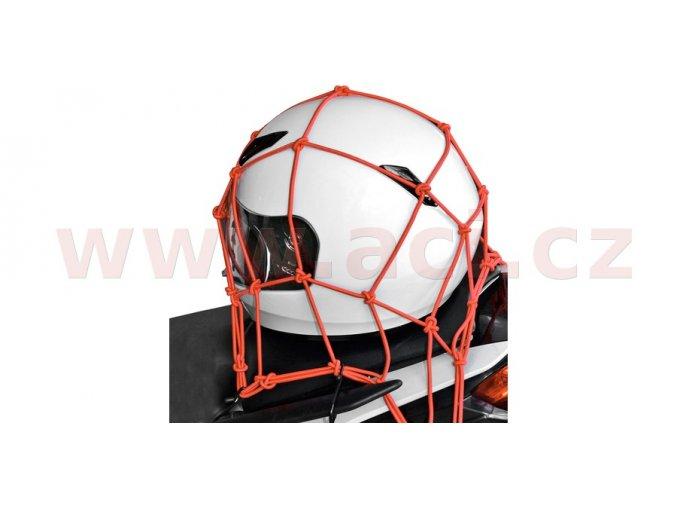 pruzna zavazadlova sit pro motocykly oxford anglie 30x30 cm cervena i176961