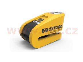 zamek kotoucove brzdy alpha alarm xa14 oxford integrovany alarm zluty cerny prumer cepu 14 mm i199644