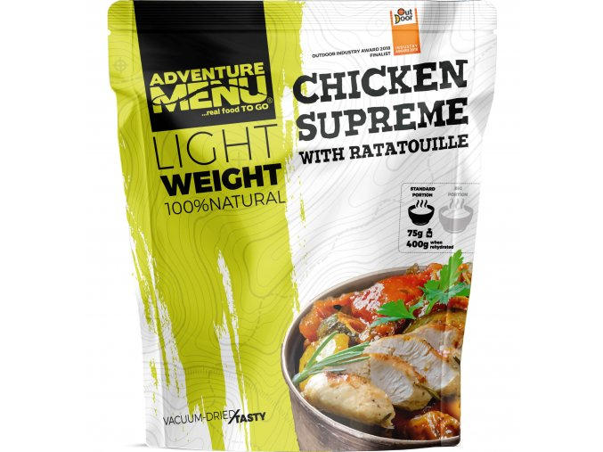 Pouch LW Chicken supreme with ratatouille