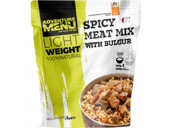 Pouch LW Spicy meat mix with bulgur
