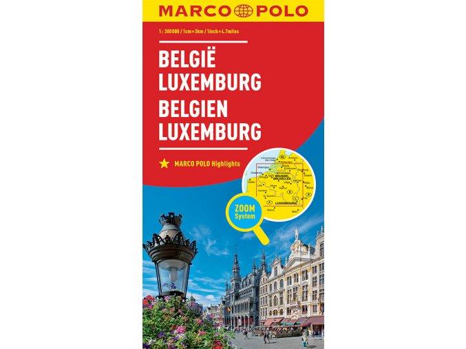 771 belgie lucembursko 1 300 000 mapa s vyhlidkovymi trasami