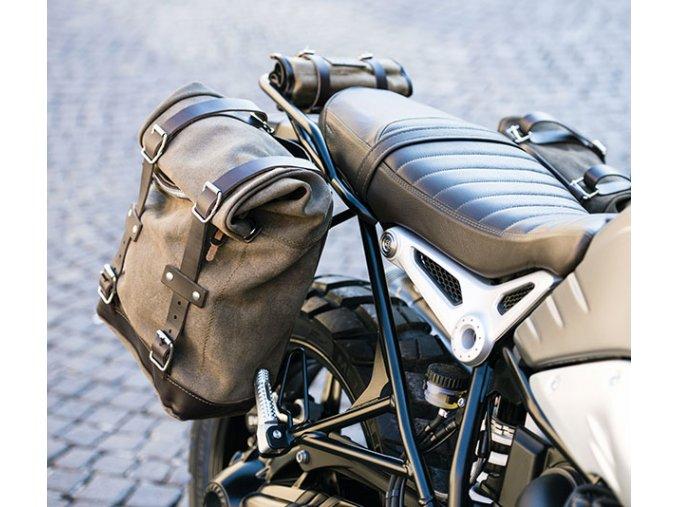 due borse laterali in crosta di cuoio doppio telaio ninet 4