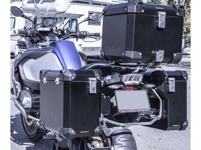Boční kufry BUMOT Defender EVO na originální rámy BMW R1200 GS / GSA (Barva kufru Černá)