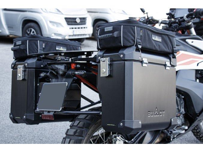 Kompletní nerezové svody + tlumič výfuku Carbon Cap - titan / karbon / ocel / černá ocel BMW S1000RR 11-14