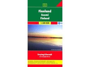 816 finsko 1 500 000 mapa s vyhlidkovymi trasami