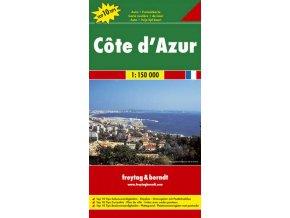 819 francie azurove pobrezi 1 150 000 mapa s vyhlidkovymi trasami